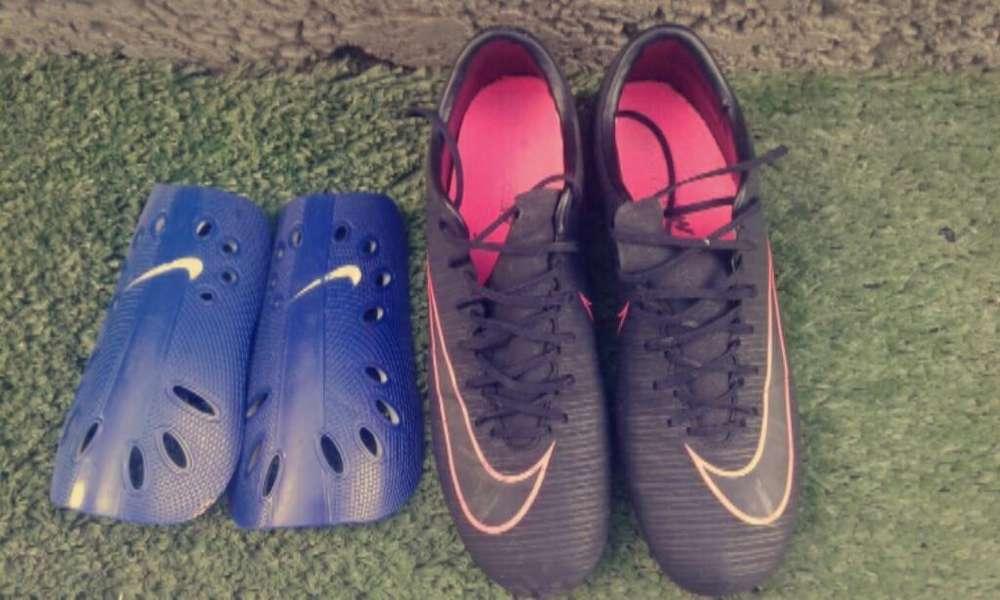 Nike Mercurial Vapor Xl Y Canilleras