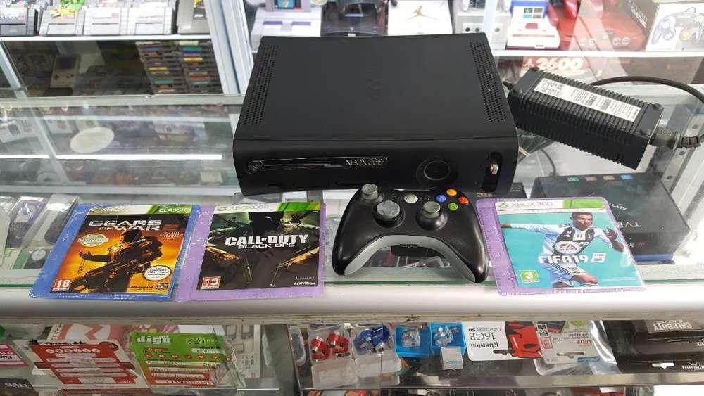 Xbox 360 1control 3jugos Cables Garantia