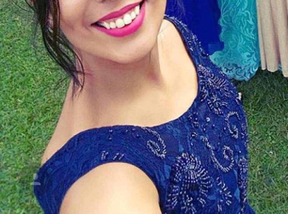 Alquilo Vestido Azul de Fiesta Talle M