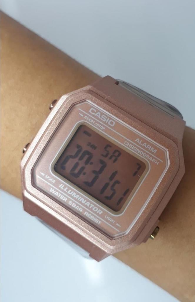 6244c530f8d6 Reloj Casio Retro Oro Rosa 13 - Cali