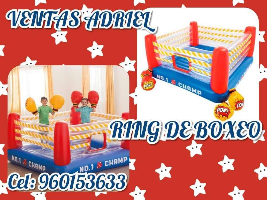 Ring de Boxeo Juego para Niños Guantes