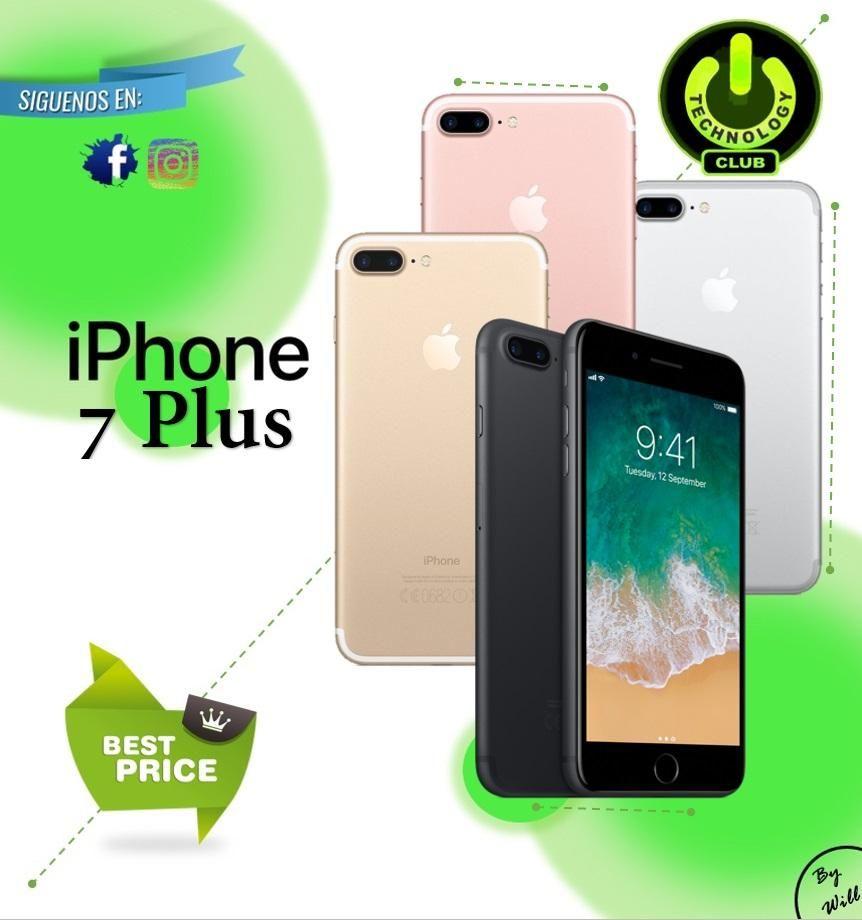 Apple Iphone 7 Plus 10x Zoom dual Camara / Tienda física Centro de Trujillo / Celulares sellados Garantia 12 Meses