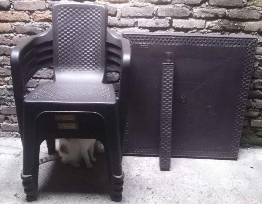 Vendo Mesa Rima 4 <strong>silla</strong>s