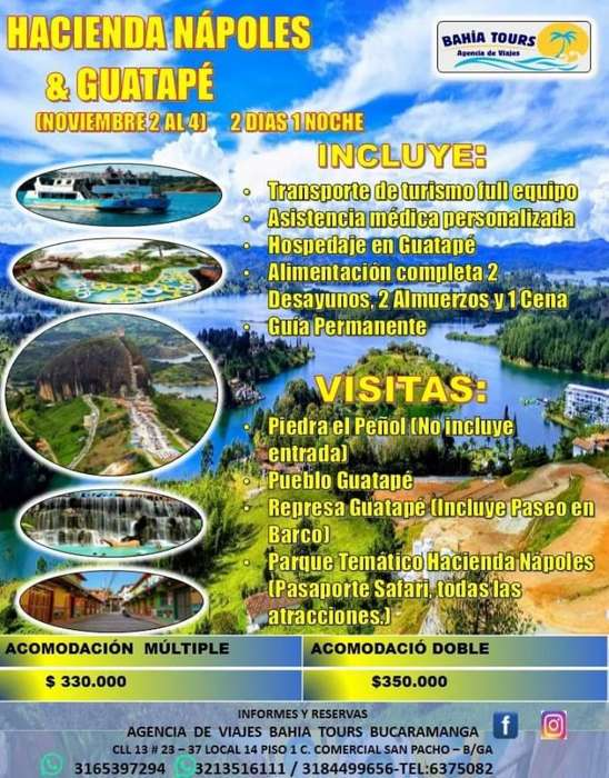 Tour Guatape Hacienda Napoles