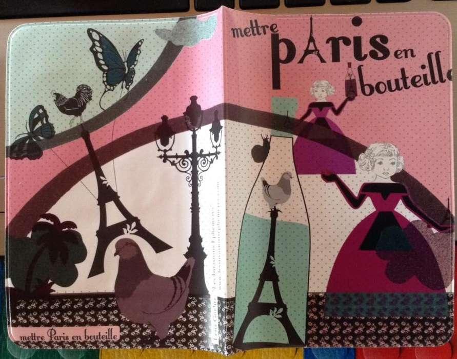 Estuche Porta Pasaporte Paris Viaje