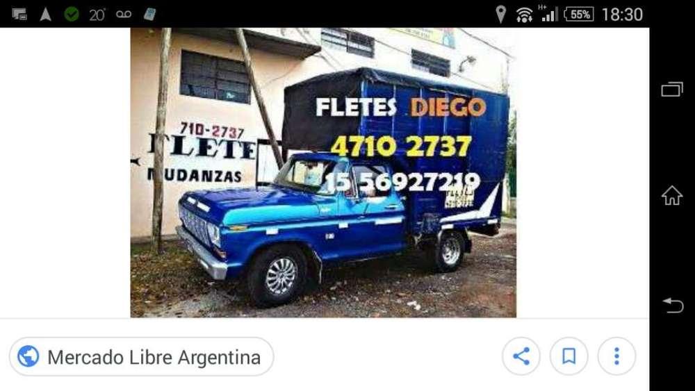 Fletes y Mudanzas DIEGO 1556927219 boulogne,san isidro