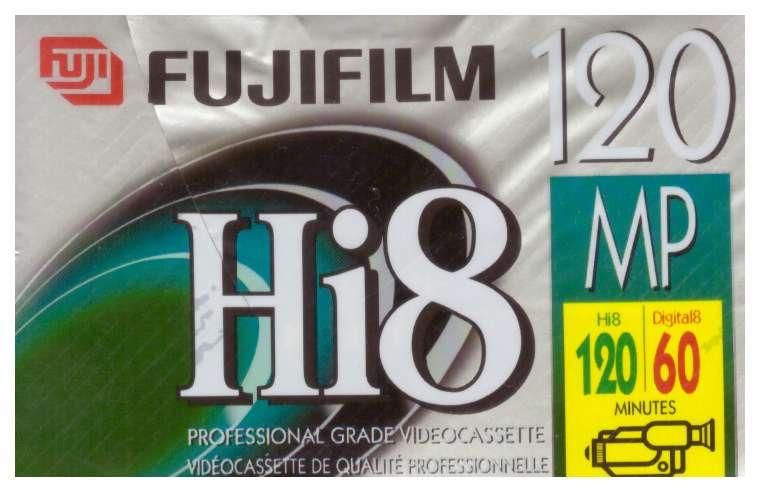 Cassette Video 8, Hi8, 120 minutos de grabacion