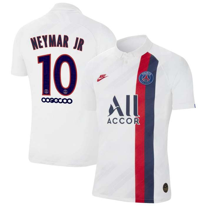 Neymar Santos Paris Saint-Germain Nike 2019/20 Third Authentic Vapor Match Player Jersey - Blanco