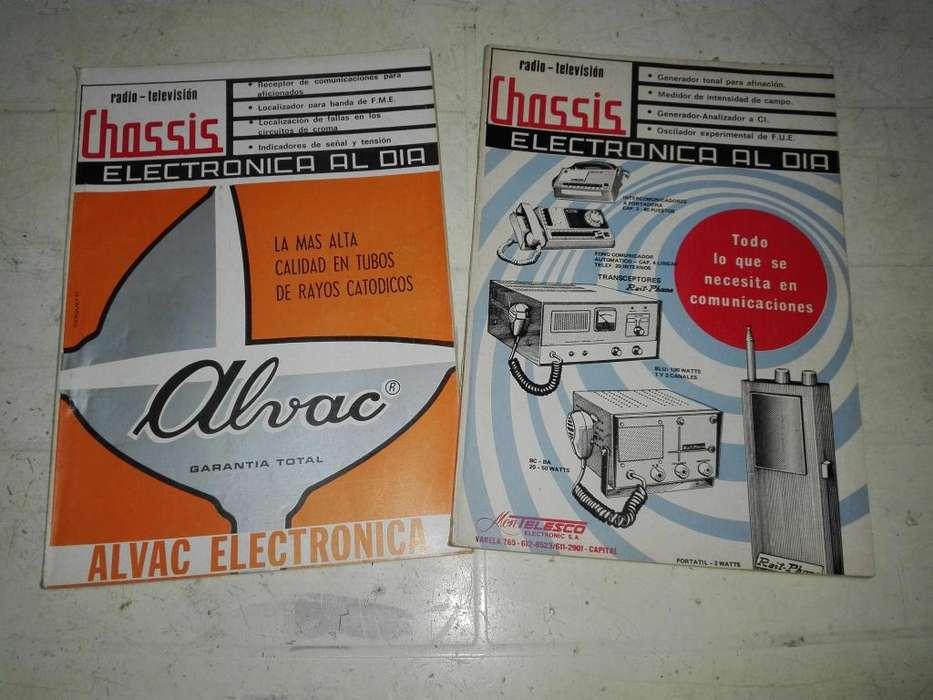 Liquido Lote De 7 Revistas Radio Tv Chassis, Antiguas.