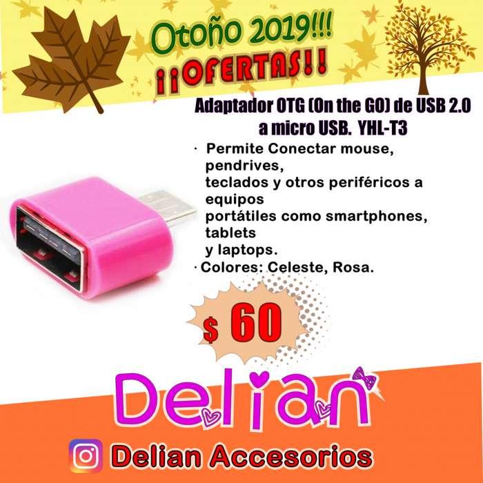 Adaptador OTG On the GO de USB 2.0 a micro USB. OTG USB Flash driver Modelo YHLT3