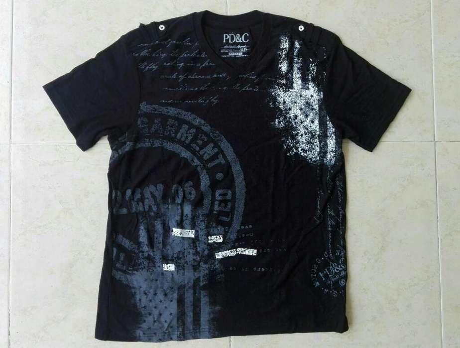 Camiseta Negra Pd&c, Nueva, Talla M