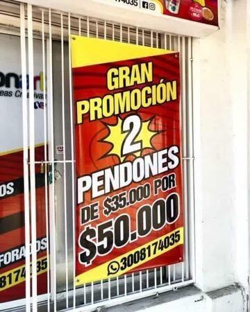 Pendones en Cartagena