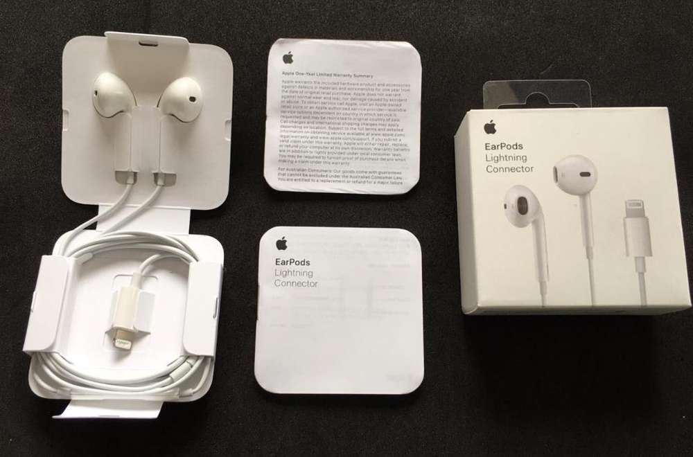 Audifonos Apple Earpods Lightning iPhone 7 8 X 11 ORIGINALES