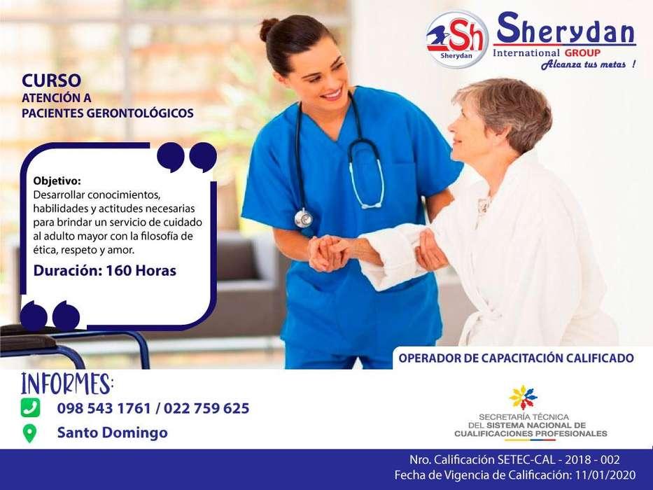 Atención a Pacientes Gerontológicos, 0985431761, con aval de la SETEC