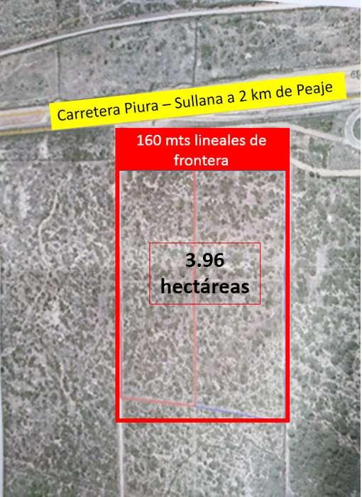 Vendo 3.96 hás Carretera Piura Sullana. A 2 km de peaje.