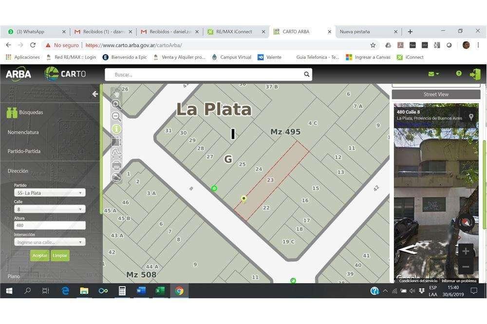 Terreno en venta para desarrollo en La Plata