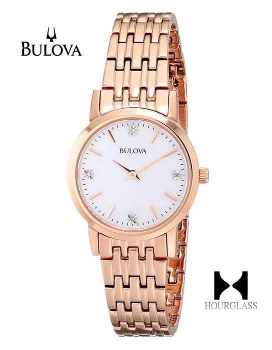 Reloj Bulova 97p106 Diamond Gallery Nuevo En Caja