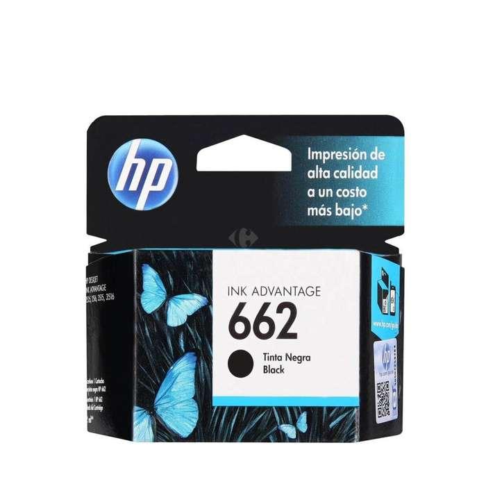 Cartucho original HP 662 negro o color