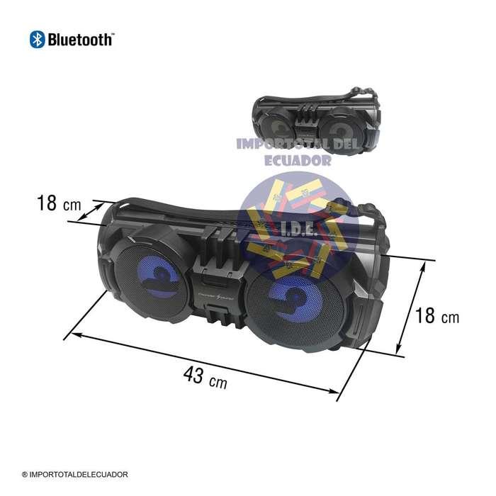 Parlante bluetooth recargable ''nuevo'' lector memorias usb / micro usb / micrófono 6,3 mm karaoke / Thunder Sound B323