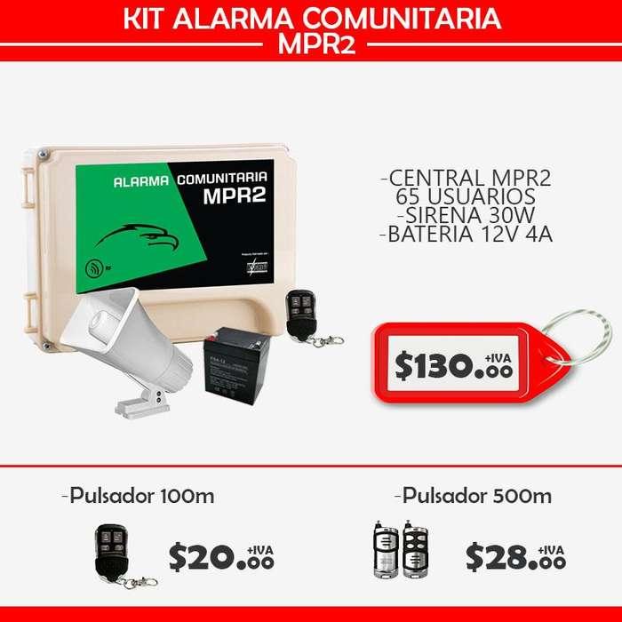 ALARMA COMUNITARIA MPR2/65 USUARIOS/ QUITO-ECUADOR