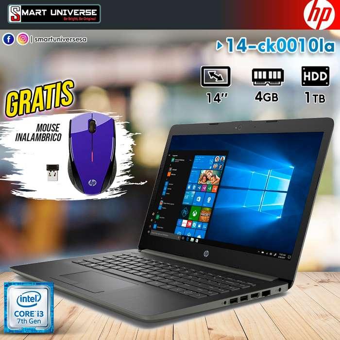 Laptop HP Core i3 7ma Generacion 4GB RAM 1TB 14 Pulgadas Windows 10 Regalo