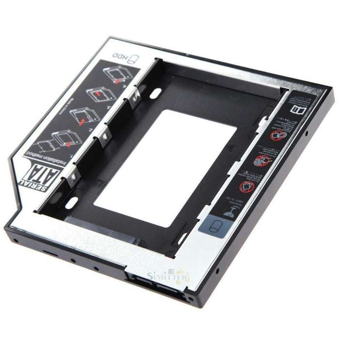 Caddy de disco duro 9.5 mm Adaptador Para Portátil PC Universal 2.5 SATA HDD