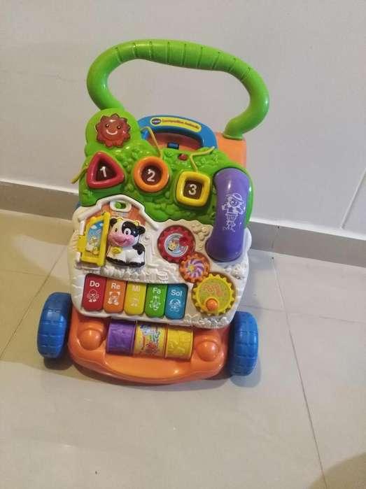 Caminador Aprendizaje Bebé Pie Sentado Vtech Usado Juguete