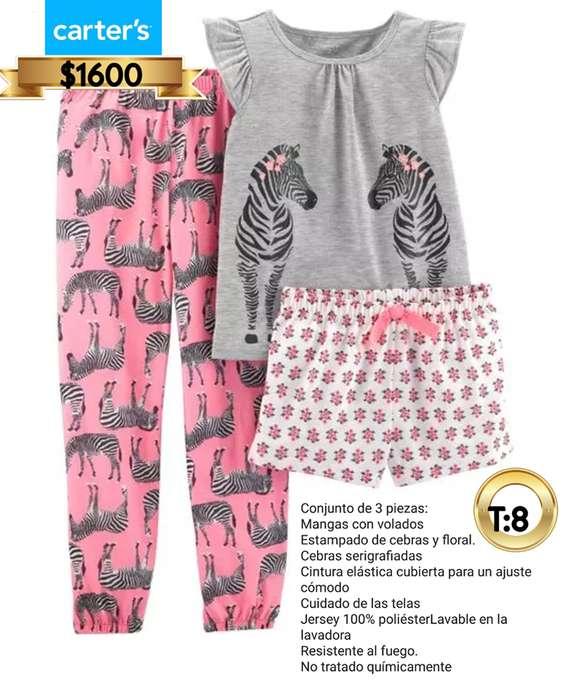Pijama Carters cebra T: 8