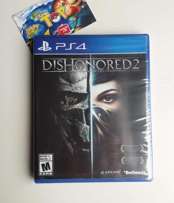 PS4 DISHONORED 2 NUEVO SELLADO, PLAY STATION 4, TIENDATOPMK