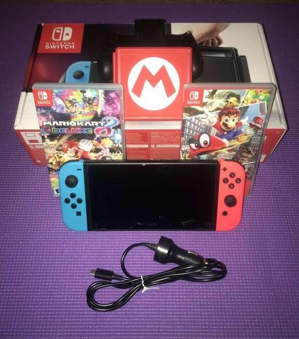 Nintendo Switch Con Dos Juegos Fisicos Y Memoria De 128gb