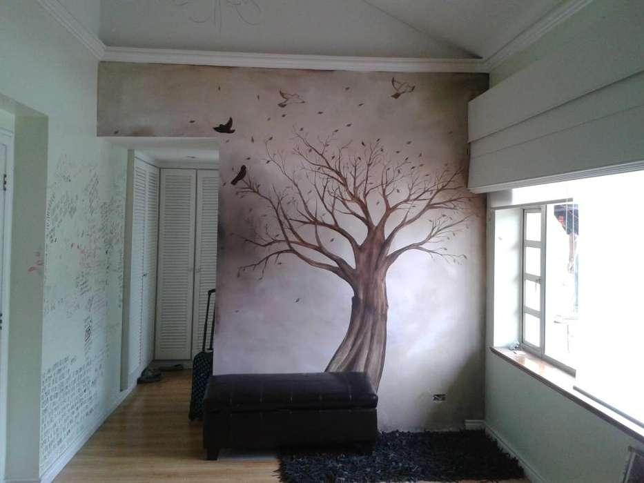 murales de arboles