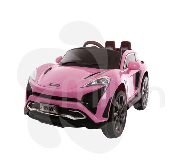 Carro Eléctrico Niños, Montable, estilo Mcclaren, control remoto, musica USB/SD