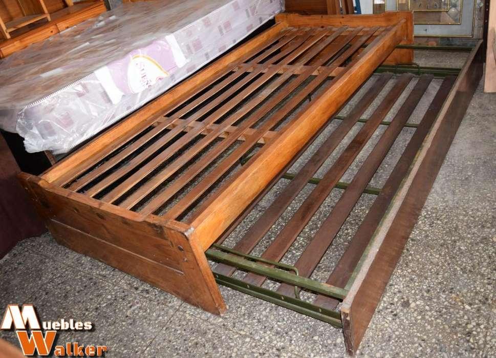 Diván cama de 1 plaza con carrito elevable