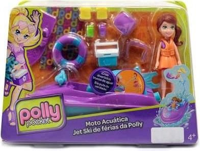Set Moto Acuática Marca Polly Pocket Acu