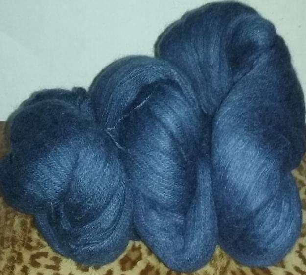 400 gr. mohair fino azul 3 madejas