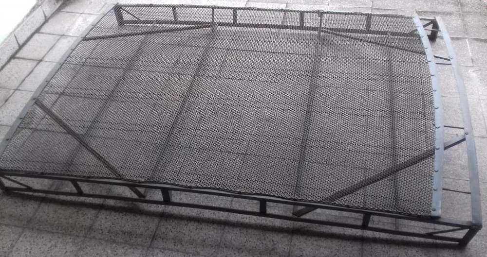 Elástico de <strong>cama</strong> 2 dos plazas de resortes metálico de metal de hierro