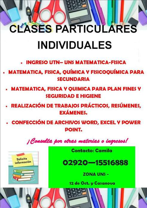 Particular Clases Individuales Zona Uns