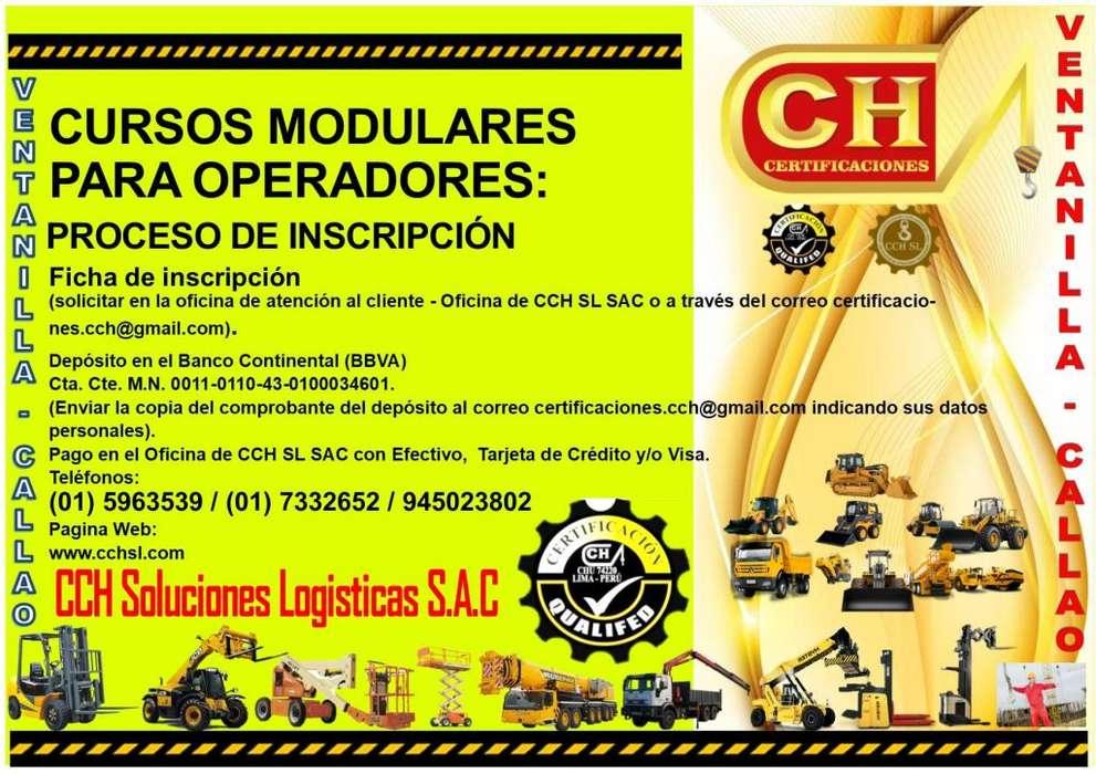 CURSOS OPERADORES DE MONTACARGAS,GRUA ARTICULADA TELESCOPICA,REACH STACKER,APILADOR,RIGGER,CAPACITACION,CERTIFICACION