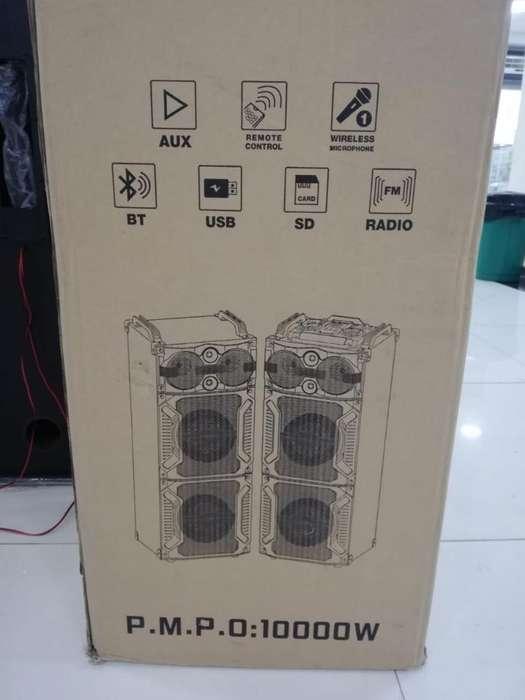 Sistema de Parlantes 2 Torres Micrófon