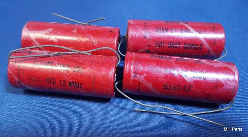 Capacitores electrolíticos 1000 mfd 12 VDC NOS
