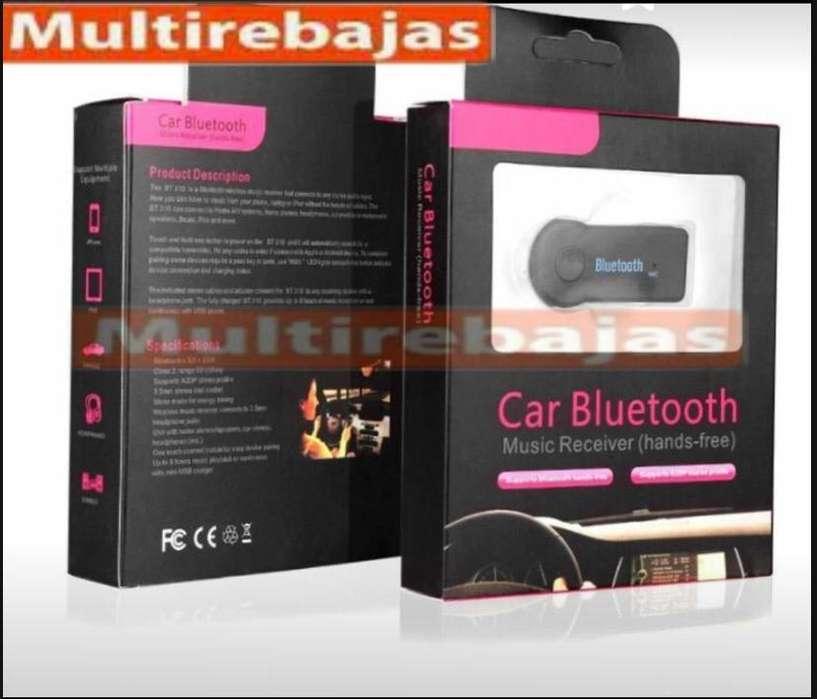 Adaptador Audio Car Bluetooth Receptor Y Microfono
