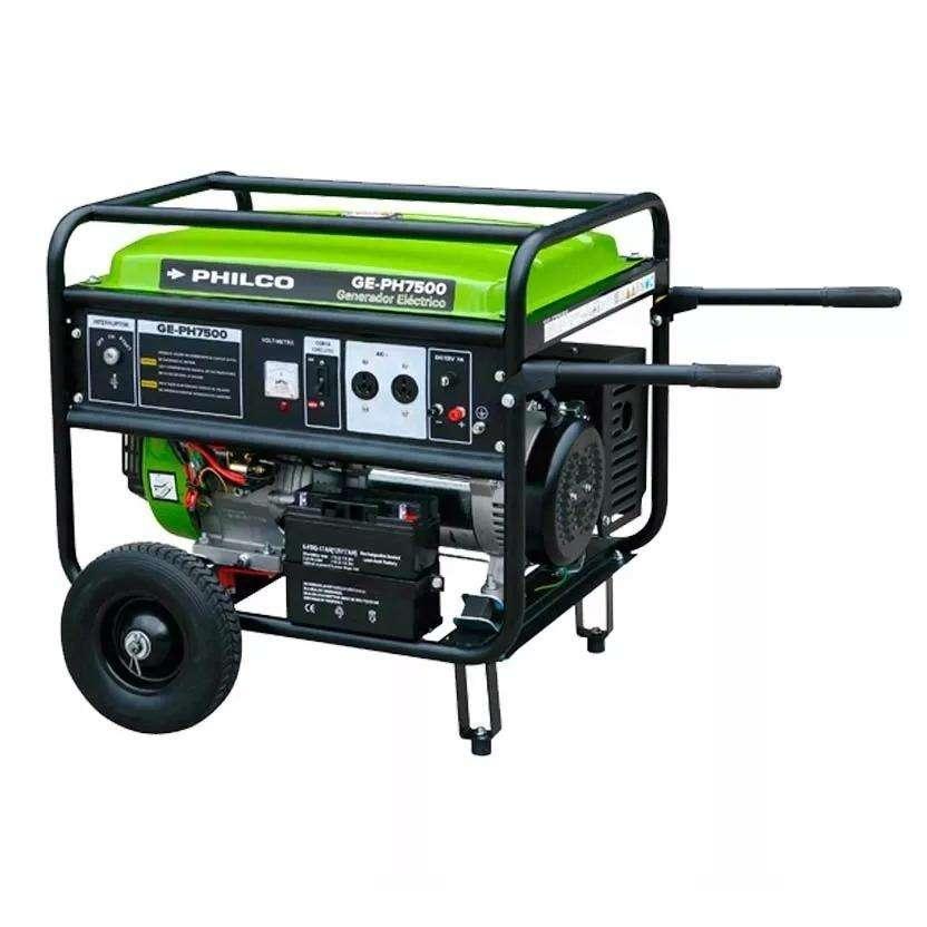 GRUPO ELECTROGENO GENERADOR ELECTRICO PHILCO 6600 W MOTOR 15 HP