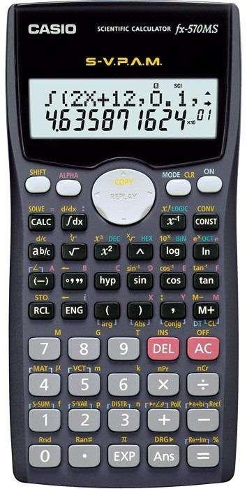 Casio Fx570ms Plus Calculadora Cientifica 401 Funciones