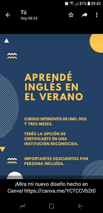 Cursos Intensivos de Inglés.