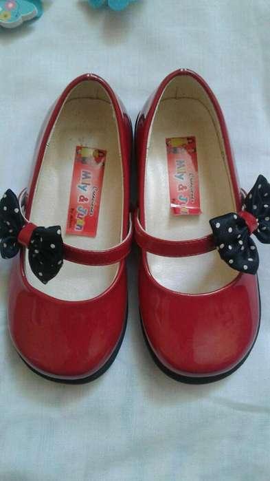 Zapato Acharolado Rojo
