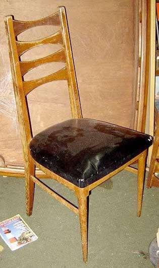 6 <strong>silla</strong>s petiribì Diseño Escandinavo Retro Vintage cuero en excelente estado