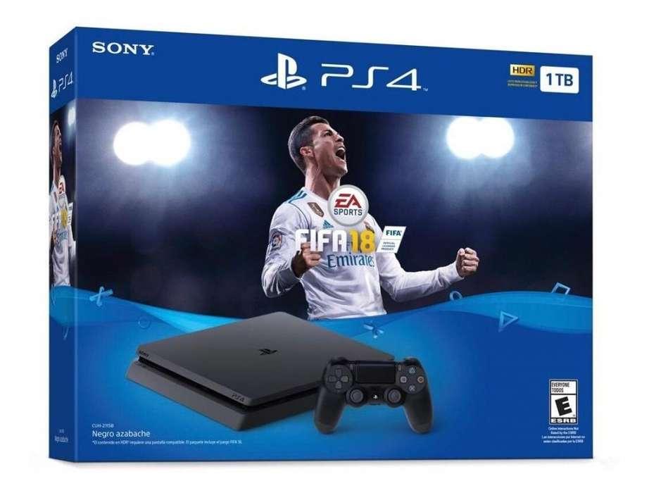 PLAY STATION 4 1TB (1 JUEGO FIFA18)