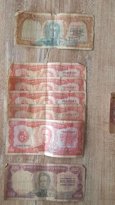 Lote de Billetes Antiguos Uruguayos