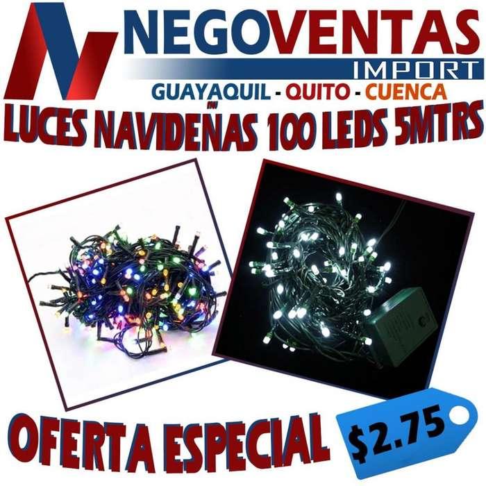 LUCES NAVIDEÑAS TIPO LINALES 100 LED/ 5 MTS 2.75