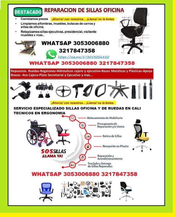 Reparacion de sillas oficina en cali Servicio a domicilio
